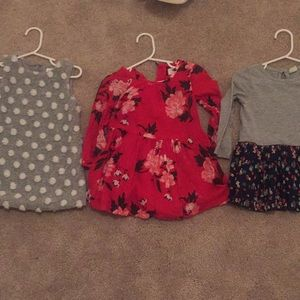 Baby Gap (grey) Old Navy (red) dress bundle 12-18